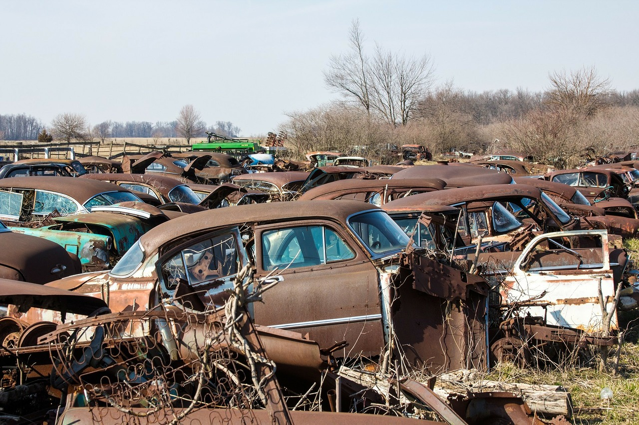 Cars Waiting For a Wrecker Service
