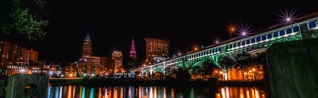 Cleveland Downtown Over The Waterfront